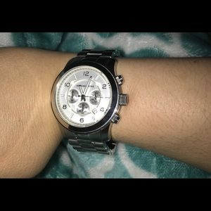 Michael Kors unisex large steel watch
